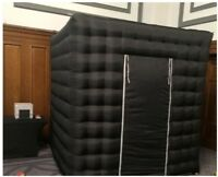 Inflatable Cube Photo Booth Air Tent Portable Photobooth Two Doors with Blower