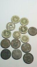 Belgique :14 monnaies 7 x 2 centimes - 5 x 10 centimes - 2 x5 centimes. TB-TTB