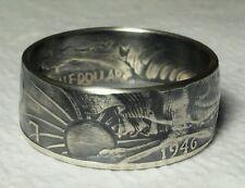 1935 - 1947  Sizes 8 thru 15 Walking Liberty Half Dollar coin ring 90% silver
