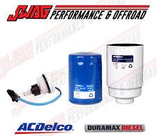 ACDelco OEM 6.6 6.6L Duramax Diesel Oil / Fuel Filter & Water-in-Fuel WIF Sensor