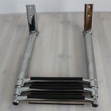 """3 Step Telescoping Ladder for Marine Boat Upper Platform Stainless Steel 14-1/2"""""""