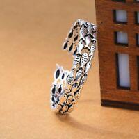 Damen Armband 925 Sterling Silber Armreif Vintage Fisch Einstellbar Geschenk Neu