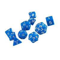 Jeu de dés Blue Gem Muti Sided D4 D6 D8 D10 D12 D20 D24 D30 D&D RPG Role Play