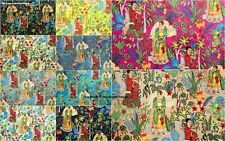 5 Yard Indian Pure Cotton Multi Fabric Frida Kahlo Printed Handmade Decor Fabric