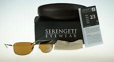 POLARIZED NEW Authentic SERENGETI Agata Satin Gold Drivers Gold Sunglasses 7581