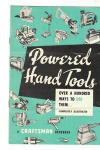 Craftsman Handbook Powered Hand Tools 1959 Over 100 Ways to Use Them