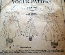 RARE VTG 1930s GIRLS BONNET VOGUE Sewing Pattern