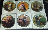"""LOT OF 6 NORMAN ROCKWELL'S """"AMERICAN DREAM"""" PLATES, WITH COAs, KNOWLES"""