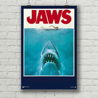 "Jaws movie poster 18"" x 27"" glossy inkjet giclee' canvas print"