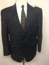 NEW! $1295 JOS A BANK SIGNATURE GOLD designer Blue Plaid Check men's suit Sz 40S