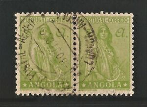 1932 - ANGOLA - CERES - 5A - AFINSA 244 = Scott 260, USED PAIR