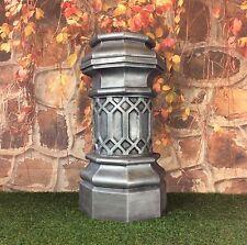 Chimney Pot Garden Planter Gothic Style Cast Iron Effect / Height 80cm