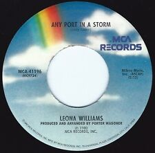 LEONA WILLIAMS Any Port In A Storm ((**NEW 45 from 1980**))