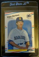 1988 FLEER #378 EDGAR MARTINEZ SEATTLE MARINERS ROOKIE HALL OF FAME GEM MINT