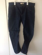 River Island Dark Blue Slouch Twisted Button Fly Jeans Waist 34 Leg 32