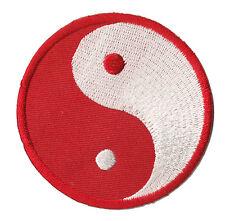 Patch écusson patche ying yang rouge blanc Bouddhisme Bouddha brodé
