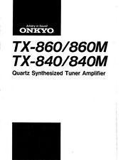 Onkyo TX-860 Tuner Owners Manual