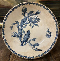 Assiette Gien Cactus Terre de Fer Fleur Vaisselle Ancienne 1900