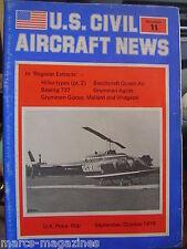 AVIATION US CIVIL AIRCRAFT NEWS # 11 1978 GRUMMAN GOOSE AGCAT BOEING 737