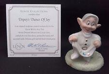 LENOX Disney, Snow White & 7 Dwarfs Figure - Dopey's Dance of Joy. Boxed NEW!
