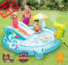 Intex Inflatable Play Center Kids Swimming Pool Slide Baby Toddler Water Sprayer