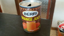 vintage berri orange 250ml  soft drink tin can
