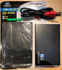 KINGWIN KH-200U-BK Aluminum alloy 2.5 Black IDE USB 2.0 External Enclosure