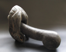 China,Hongshan Culture,Old Jade,Black magnet,hand-carved,penis and vagina,Statue