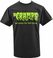 MENS T-SHIRT THE CRAMPS BAD MUSIC PSYCHOBILLY HORROR LUX INTERIOR GARAGE S-5XL