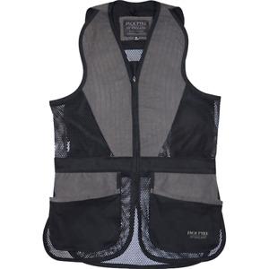 Jack Pyke Skeet Vest Sporting Clay Pigeon Shooting Mesh Hunting Black Green UK