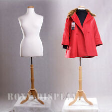 White Female Size 14-16 White Mannequin Dress Form #F14/16W+Bs-01Nx+Cap-M42N rx
