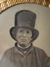 ANTIQUE AMERICAN CIVIL WAR ERA FOURTH DOCTOR WHO LOOKALIKE MAN AMBROTYPE PHOTO