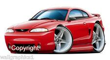 1994-98 Ford Mustang Cobra 4.6 Tremec Wall Graphic Sticker Vinyl Garage Decals