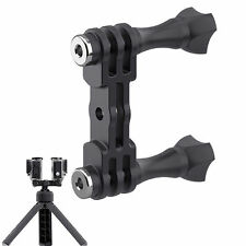 Universal Dual Flash Bracket Mount Holder Tripod Stand for Gopro Camera Outdoor