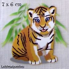 Patch Applique, Dessin Transfert, ANIMAL TIGRE, 7 x 6 cm, sérigraphie - T072