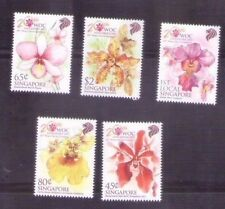 Singapore 2011 ,20th World Orchid Conference, 5V MNH