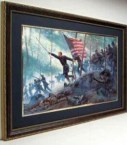 Chamberlains Charge Framed Poster Print Art By Mort Kunstler