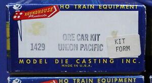 Vintage Roundhouse 1429 HO Union Pacific Ore Car #8000 Kit Silver NIB