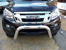 Nudge Bar for Isuzu D-Max 2012+ - Low Loop 76mm Polished Alloy