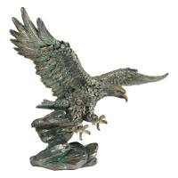 "Wingspan Victory's Eagle Design Toscano 15½"" Statue With Antique Bronze Finish"