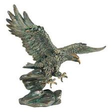 "Design Toscano 15½"" Wingspan Victory's Eagle Statue With Antique Bronze Finish"