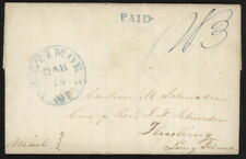 1842 US Stampless folded letter w/Baltimore MD (high D) pmk to Flushing, Long Is