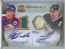 2010-11 THE CUP DALE HAWERCHUK / RON FRANCIS AUTO DUAL PATCH 10/10!! JERSEY ##