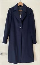 Jaeger Women's Navy Blue Wool Coat Size 8