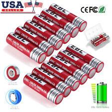 EBL 2-18pcs 3000mAh 18650 Li-ion Rechargeable Batteries Pack for LED Flashlights