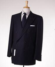 NWT $6500 BRIONI Black-Violet Purple Stripe Super 150s Wool Suit 42 R 'Tiberio'