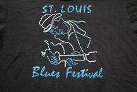 Vintage 80s 90s St. Louis Blues Festival T-Shirt XL Shirt Music