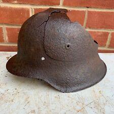 Original WW2 Normandy Relic German Army Helmet - Blast Damaged - #4
