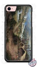 Native Indian Village River Mountain Design Phone Case for iPhone Samsung LG etc