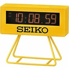 Seiko QHL062Y Countdown Style Sports Timing Clock Yellow